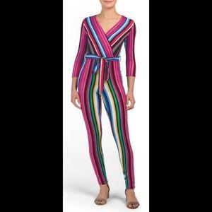 Multi Colored Jumpsuit w/ Stripes